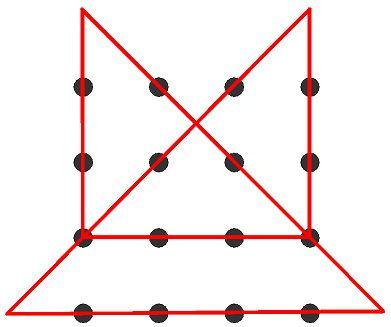 comment faire 4 segments reliant 9 points