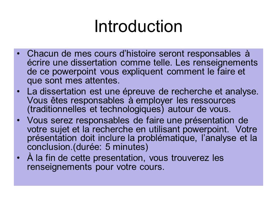Comment faire un sujet de dissertation