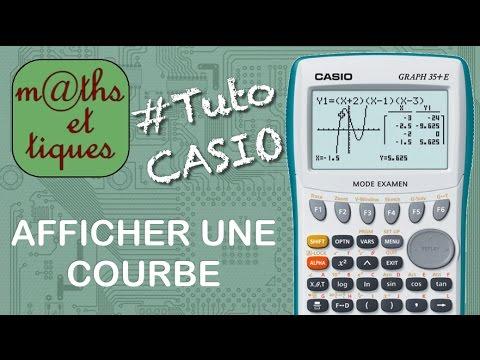 comment faire x sur une calculatrice casio graph 35+e
