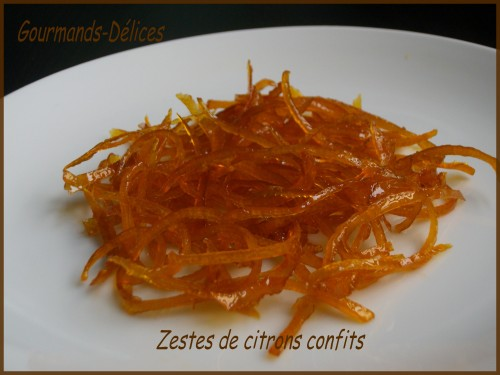 comment faire zeste citron confit