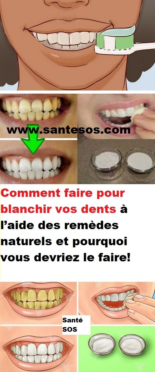 pourquoi faire blanchir