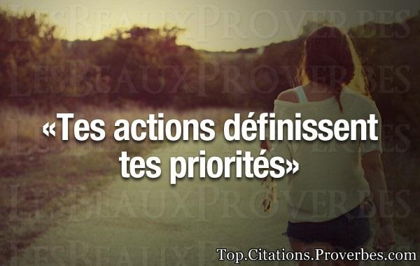 pourquoi faire de quelqu'un sa priorite